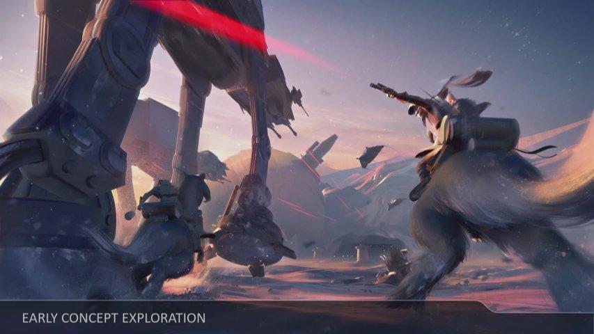 Battlefront II Hoth concept art.