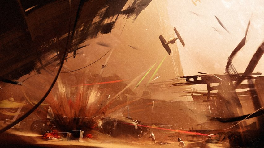 Un concept-art de Star Wars Battlefront II