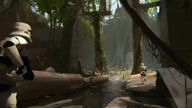 Un concept-art de Star Wars Battlefront II