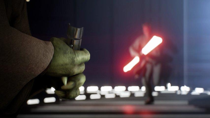 Yoda and Darth Maul in the Battlefront II trailer.