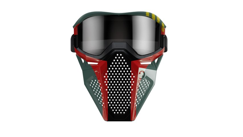 The Mandalorian-themed Nerf mask available at GameStop.