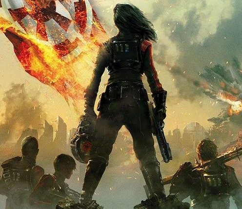 Portion of the Inferno Squad novel's cover.