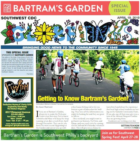 Globe Times Bartram's Garden April 19, 2019 issue