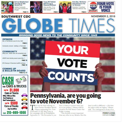 Globe Times November 2, 2018 issue