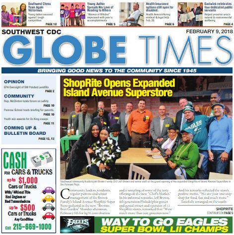 Globe Times February 9 2018 issue