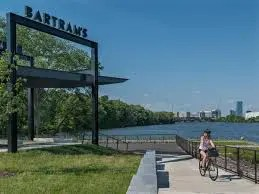 The view across the Schuylkill from Bartram Plaza at the foot of 56th Street and the river. A new study will consider extending the river trail over to Passyunk Ave.