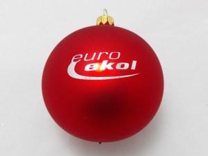Czerwone bombki choinkowe euro ekol