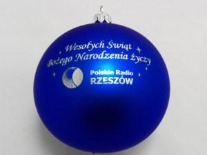 bombki choinkowe z logo polskie radio rzeszów, grafika