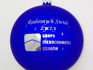 bombki firmowe grupa nieruchomości kraków z logo