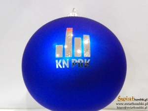 bombki grawerowane z logo Kn PRK