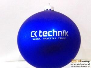 bombki niebieskie z logo ck technik