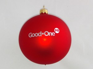 advertising ball with logo good one, red