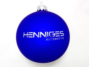 advertising ball with logo henniges, blue