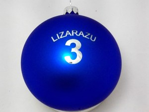 advertising balls with logo lizarazu, engraved