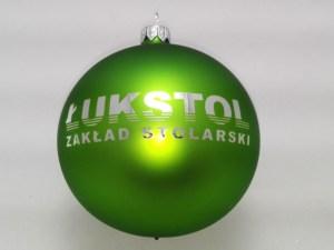 green christmas ball łukstol