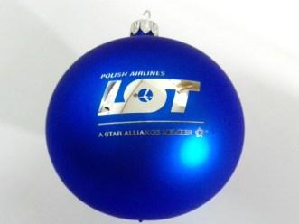 blue company ball with logo lot