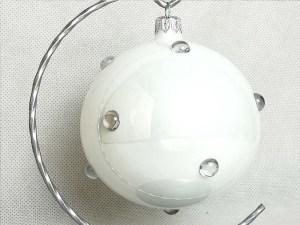 producent bombek, bombka biała z cyrkonią