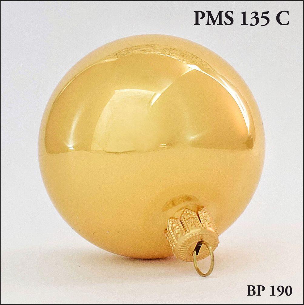 bombka choinkowa złoty perłowy