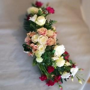 Kompozycja nagrobna Eustoma i róże nr.108