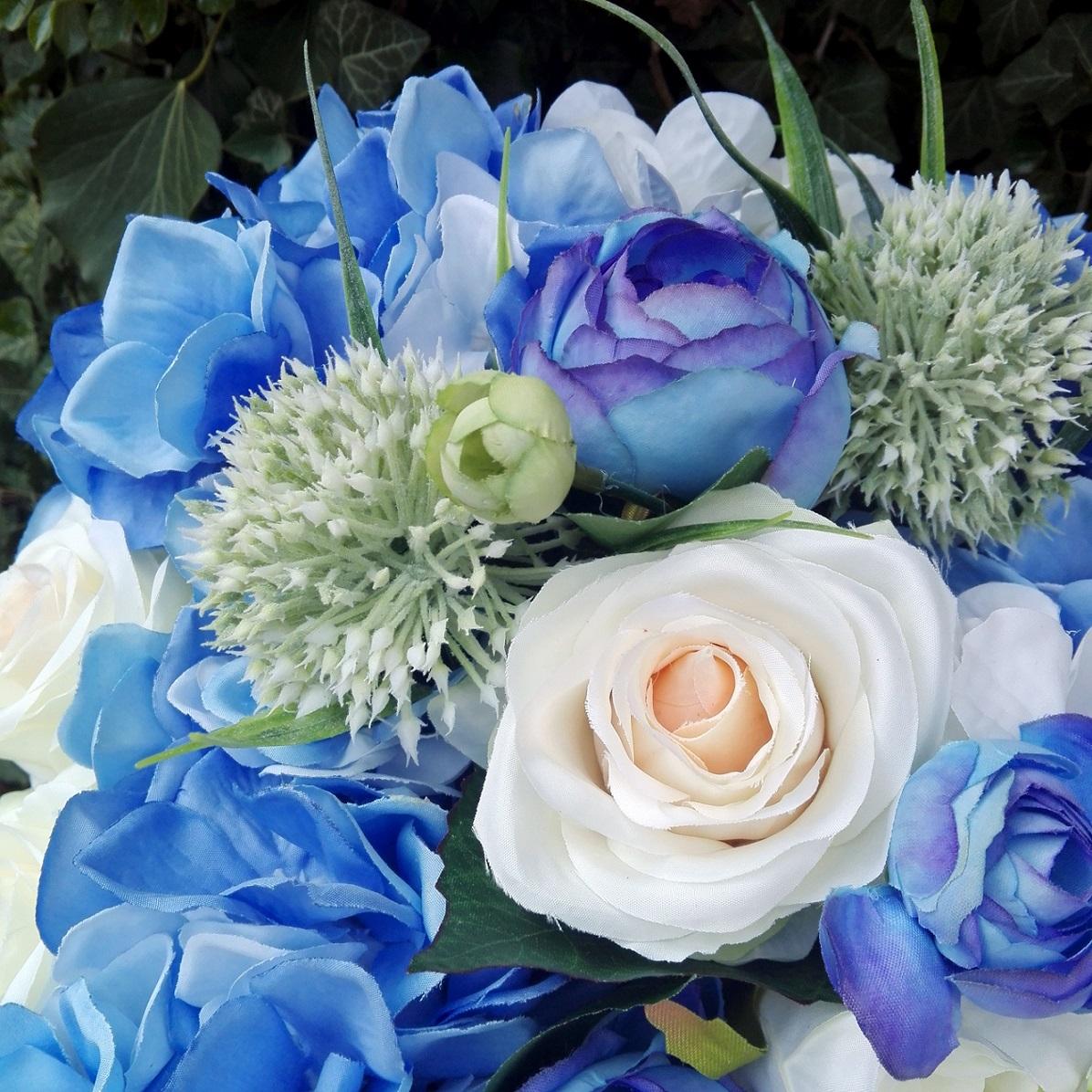 niebieski flower box