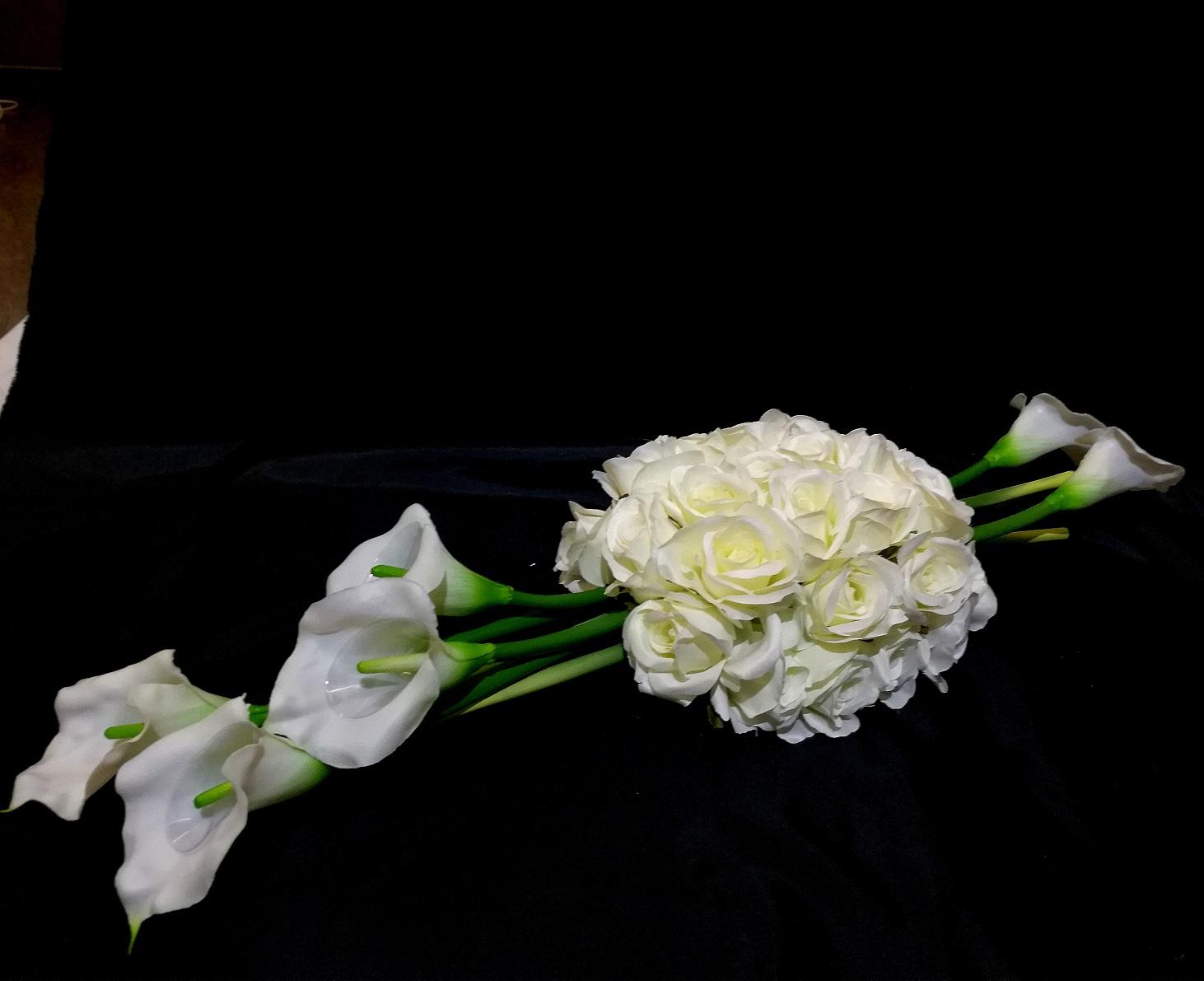 Zestaw na cmentarz w bieli