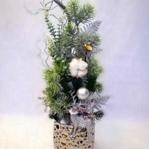Dekoracja świąteczna srebrna nr. 110