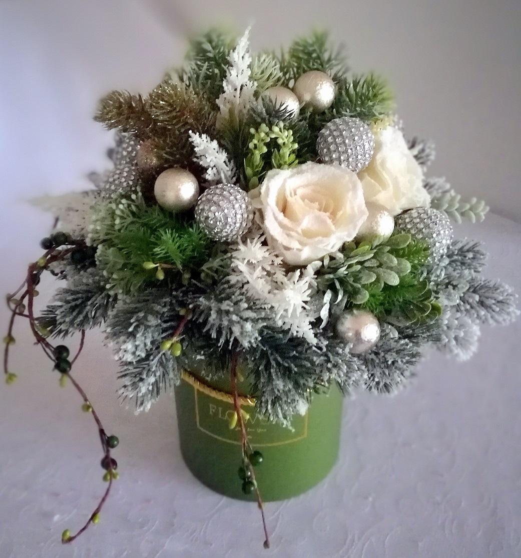 Świąteczny flower box Leśne spotkanie nr. 118