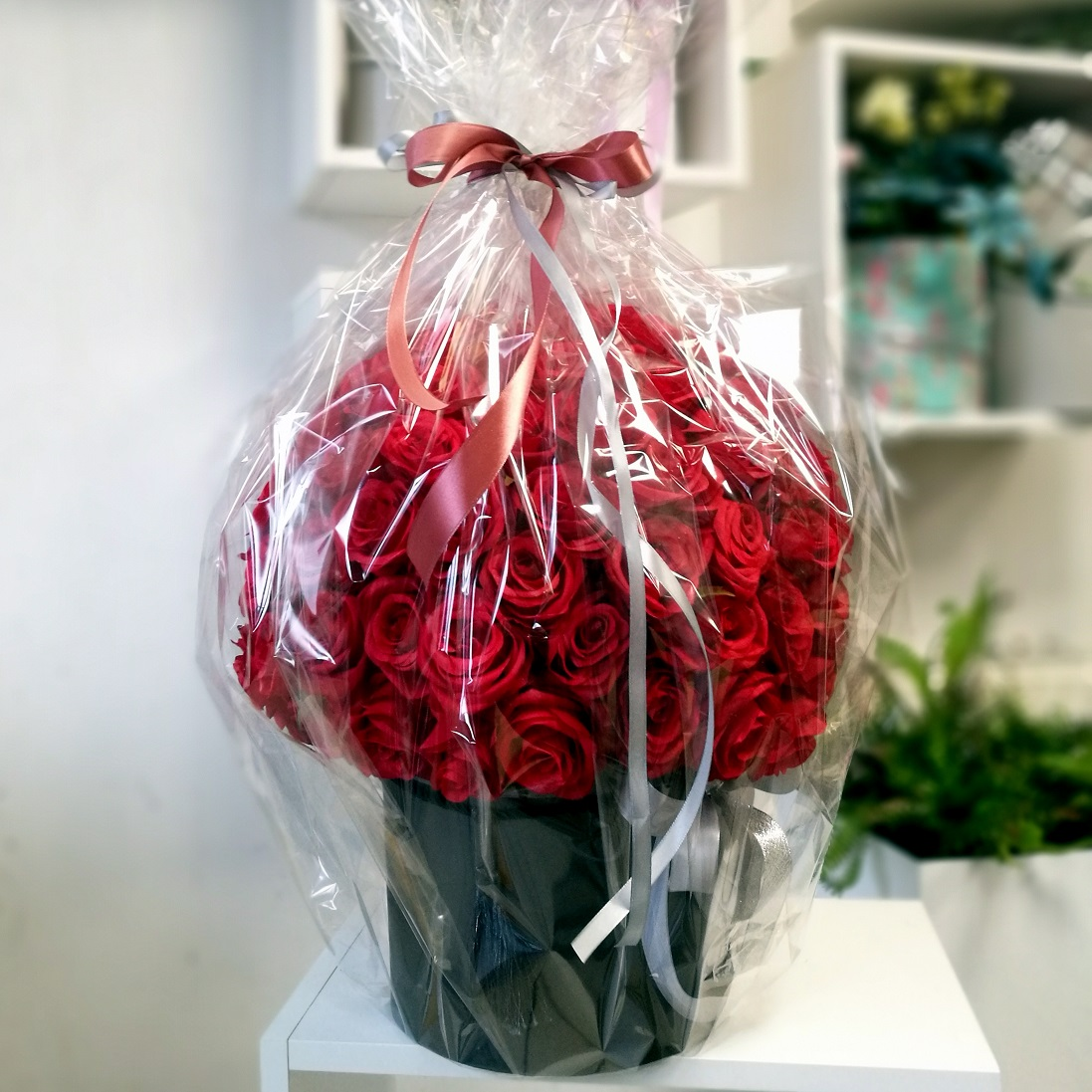 Flower box czerwone róże roz. XXL nr. 133
