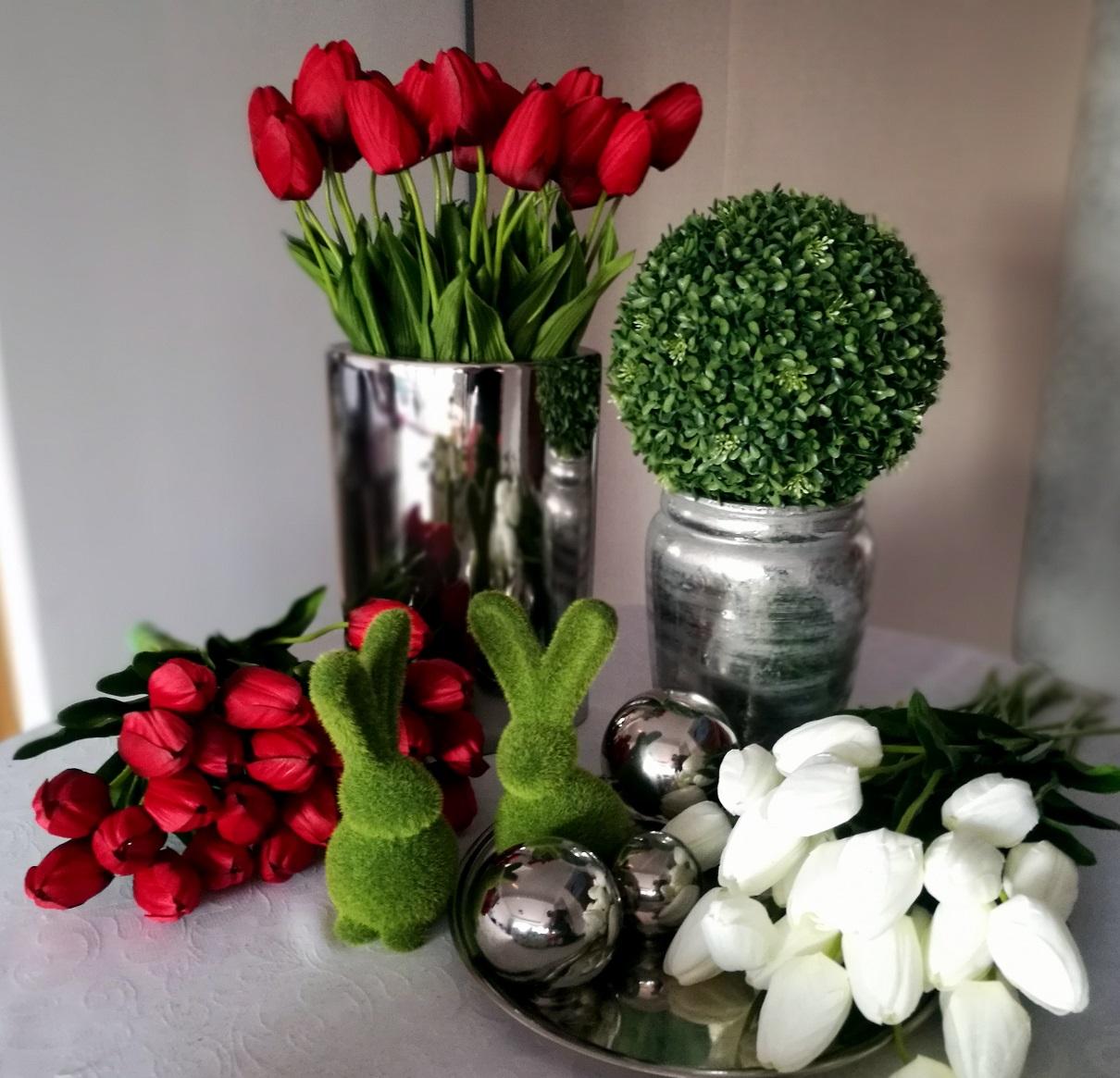 Czerwone tulipany bukiet 15 sztuk