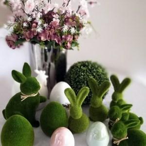 Wielkanocny zając z porcelany L