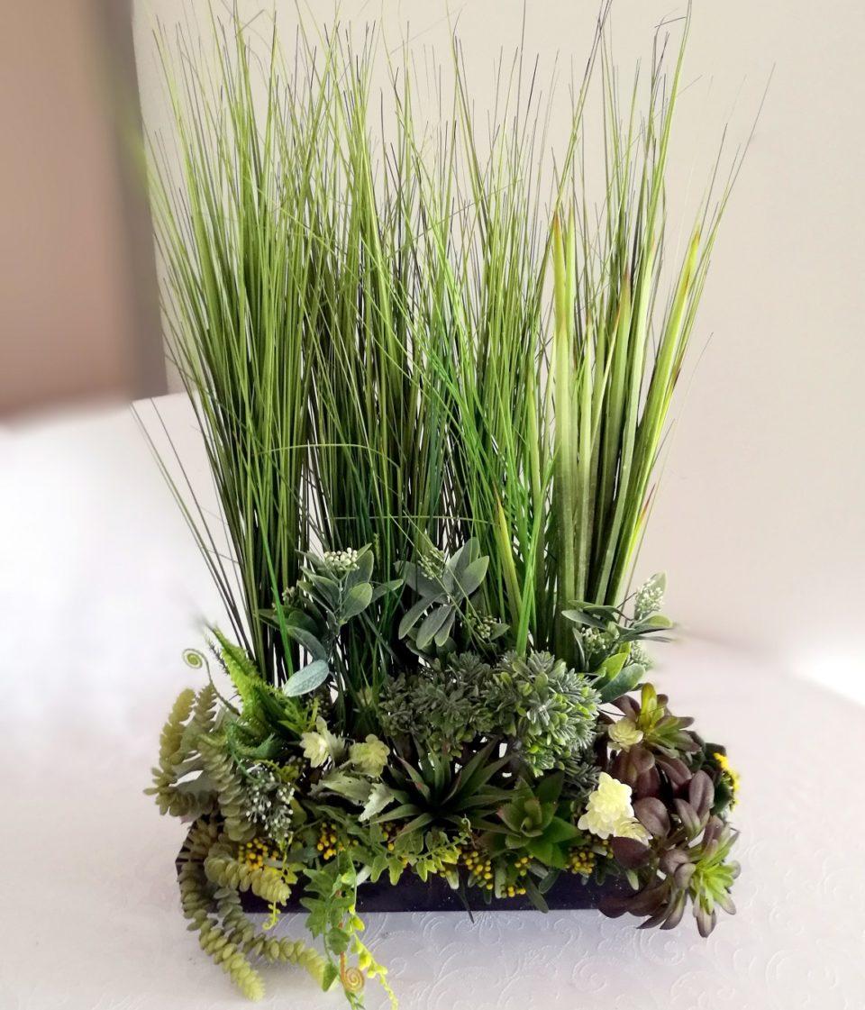 Dekoracja trawy i sukulenty 2 nr. 168
