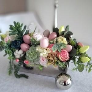 Wielkanocny stroik z sukulentami nr 165