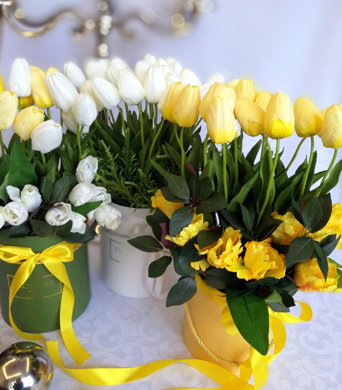 Żółte tulipany w ż