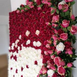Ściana kwiatowa Szczęśliwy dzień