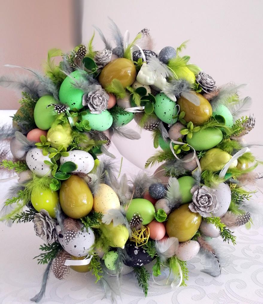 Wianek Wielkanocny w zieleni nr 86