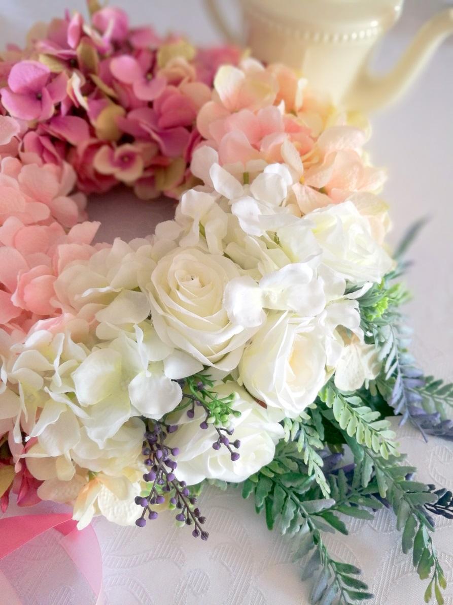 Wianek z hortensji odcienie różu nr. 88