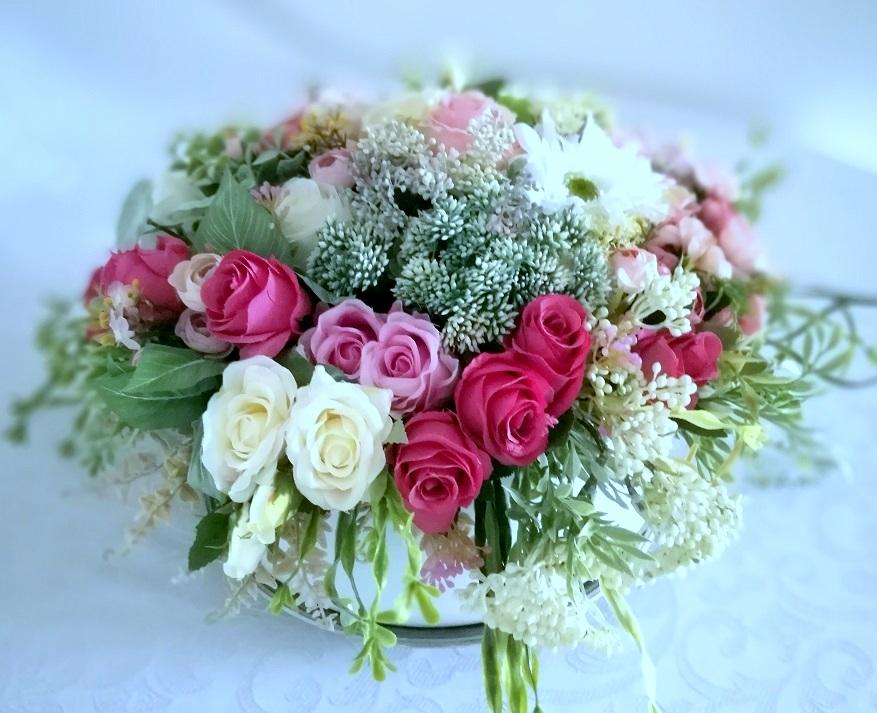 Kompozycja kwiatowa Odcienie różu nr. 214