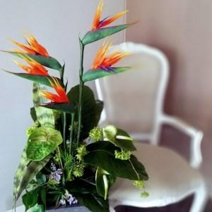 Nowoczesna kompozycja kwiatowa Strelicja nr. 217