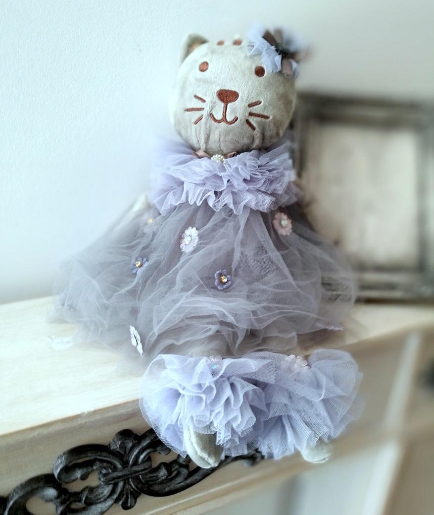 Szara pacynka Romantyczna kotka
