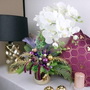 Sztuczna Orchidea na Święta nr 249