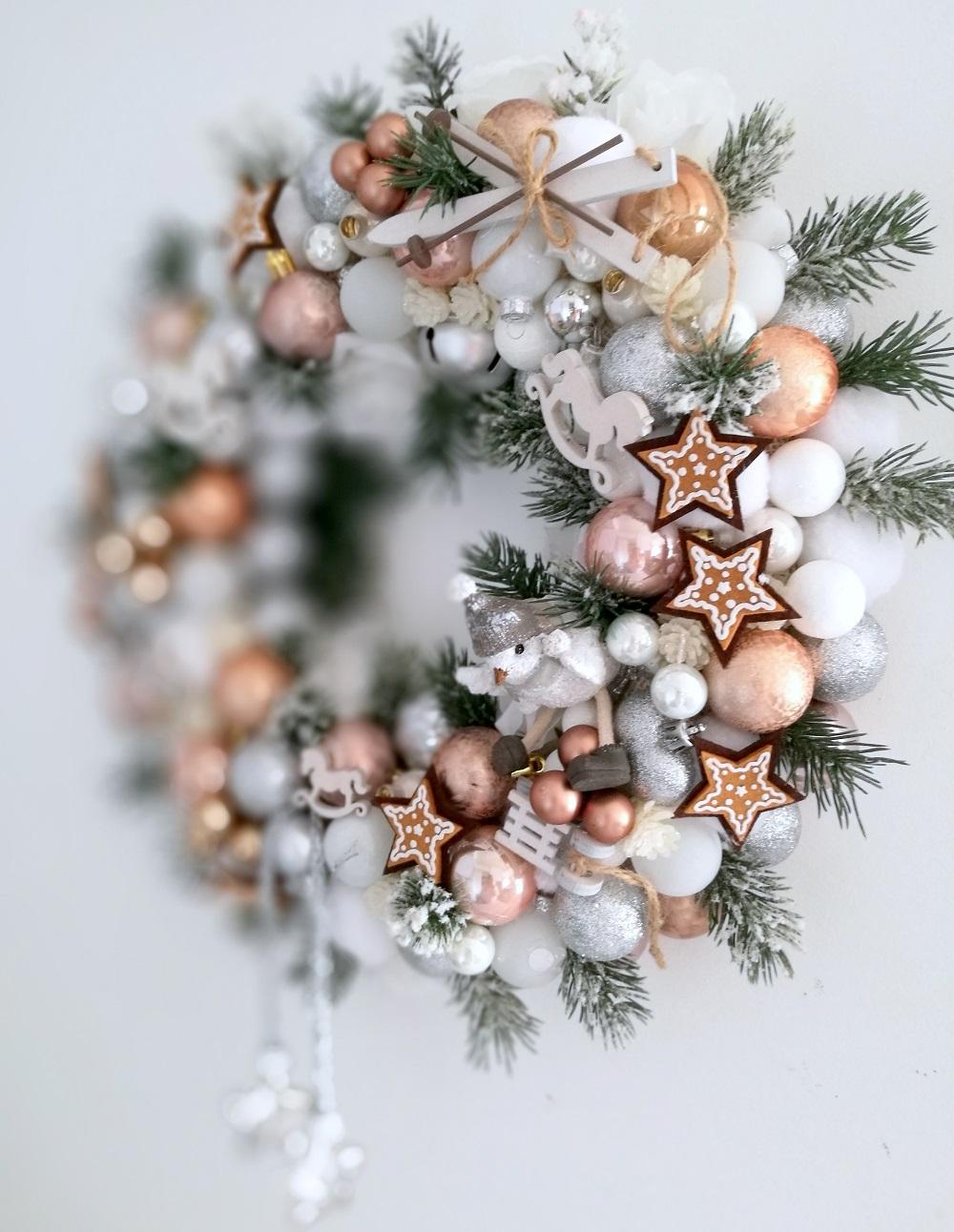 Wianek na Boże Narodzenie Ptaszek w Szaliczku