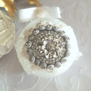 Biżuteryjna szklana bombka, bombki