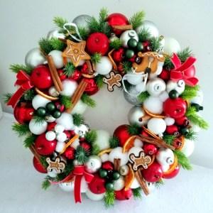 Wianek świąteczny pomarańcza i cynamon nr 118