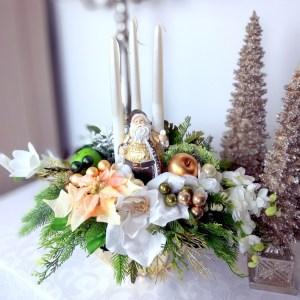 Stroik świąteczny z Mikołajem nr 269