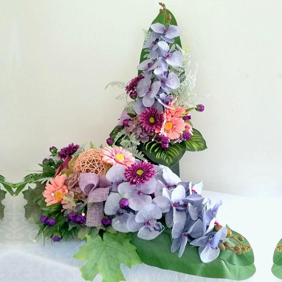 Bukiet i stroik nagrobny odcienie fioletu nr 314