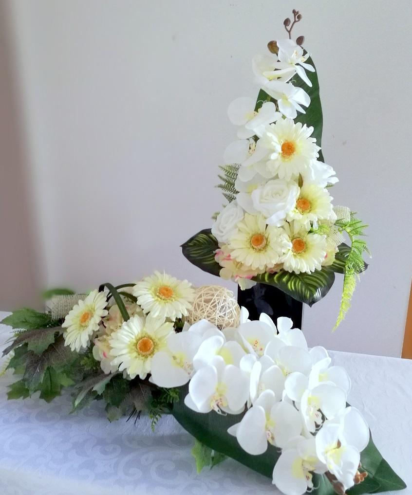 Bukiet i stroik nagrobny odcienie bieli nr 313