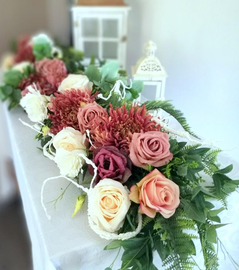 Girlanda nagrobna chryzantemy i róże nr 327
