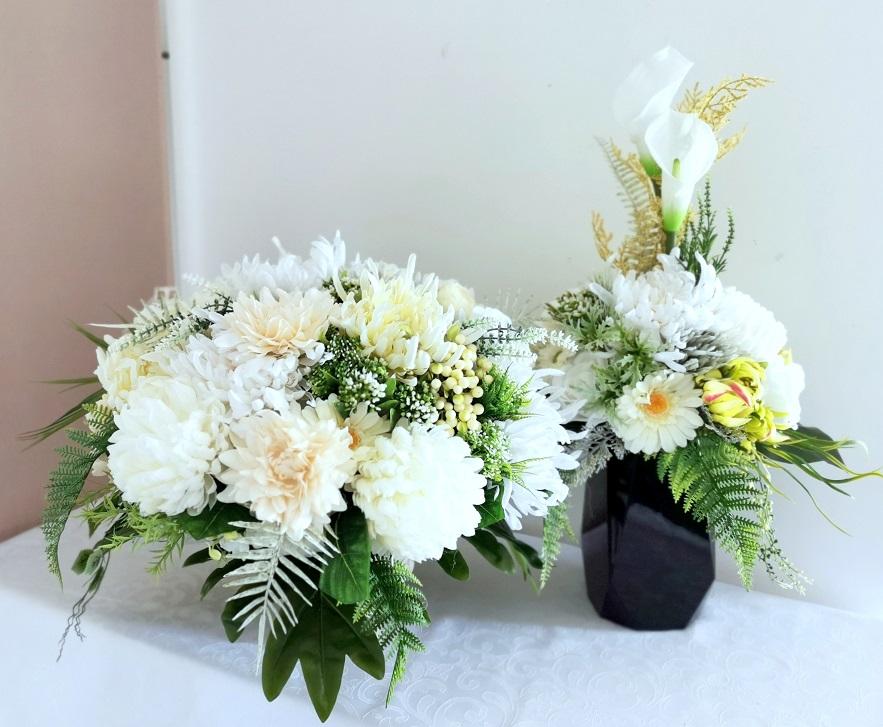 Zestaw nagrobny jesienne kwiaty M nr 359
