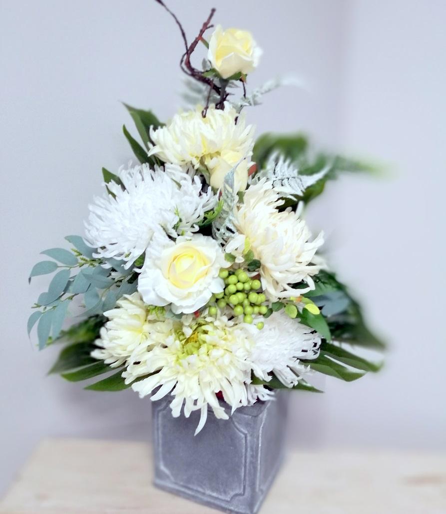 Bukiet do wazonu Wstęga Bieli nr 371