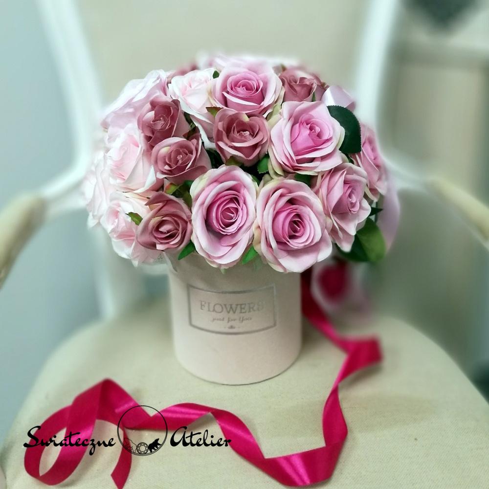 Box kwiatowy Różowa etiuda nr 410